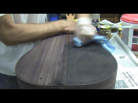 Luthier Tips Du Jour - Pore Filling With Drywall Compound