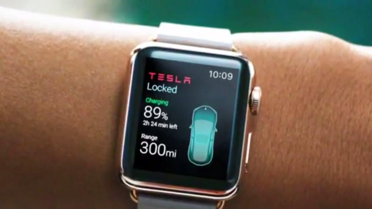 Apple watch tesla