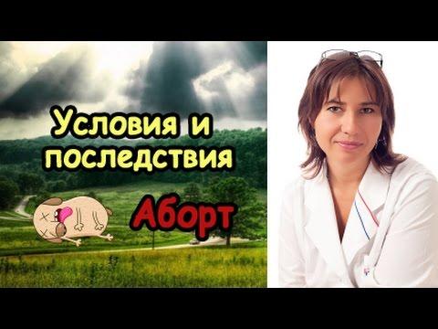 Аборт.  Условия и последствия