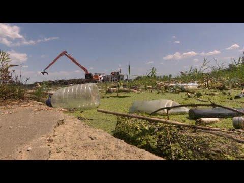 Очистка реки Тиса от мусора