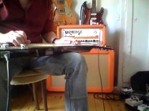 Orange Rockerverb 50 demo with Gretsch G5700 lap steel - open G