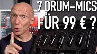 Hot oder Schrott? Mikrofon-Set mit 7 Drum-Mics für 99 €  | Abmischen Deutsch