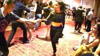 Karel Flores social salsa dancing!