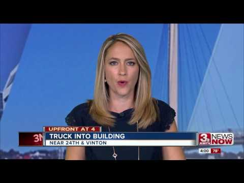 Ford Ranger crashes in South Omaha building