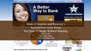 Bank of America Bancorp AccountNow Site Goes Down Without Warning 6-24-2015