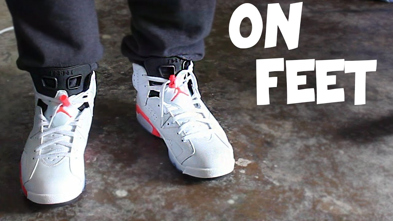 52f3b02037a080 57e9a bde51  low price jordan 6 infrared white on feet youtube c7609 bf450