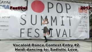 4 of 14 JPSF 2012, Vocaloid Dance Contest Contest #2: Heidi (Sadist...
