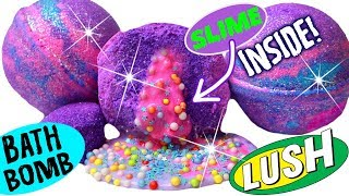 DIY Slime-Filled Bath Bomb: SLIME INSIDE! | DIY Supply Shopping Vlog & Tutorial! | GlitterForever17