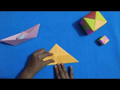 DIY-Origami Boat that floats/ How to make paper Boat/Kids School paper craft work/5 mins crafts