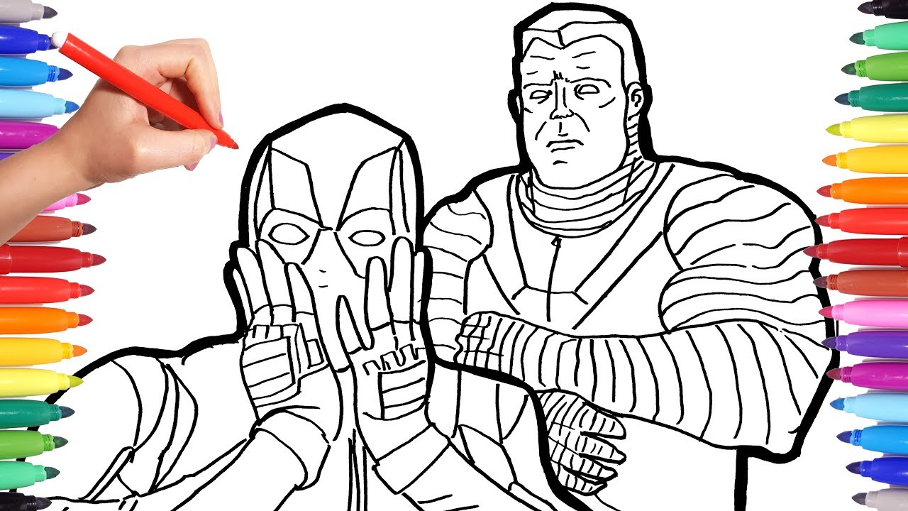 - Marvel Deadpool Coloring Pages Watch How To Draw Deadpool