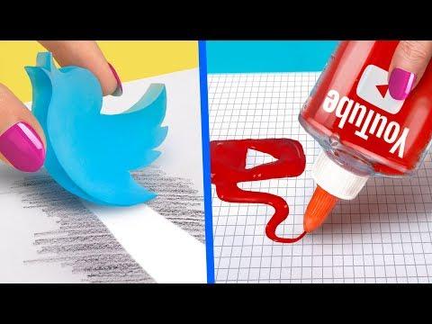 Denemeniz Gereken 10 Kendin Yap Tarzı Tuhaf Okul Malzemesi / Sosyal Medya Okul M
