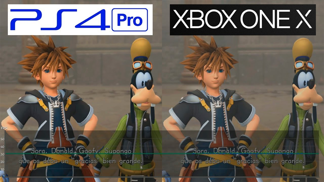 Kingdom Hearts 3 Ps4 Pro Vs One X Framerate Test Fps