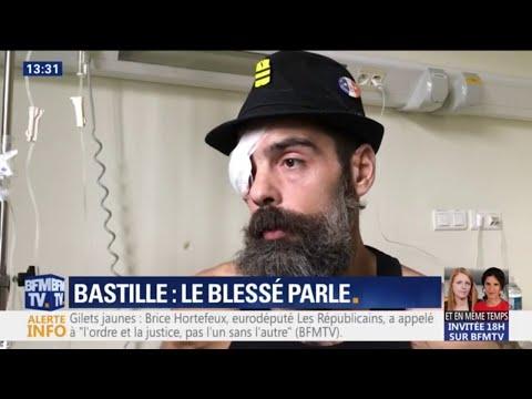 """Jérôme Rodrigues témoigne à BFMTV: """"J'ai été visé délibérément"""""""