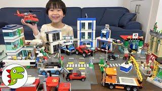 レオくんがたくさんのLEGOを使って街を作るよ!ロードプレートをつなげて大きいレゴシティを完成させよう! トイキッズ