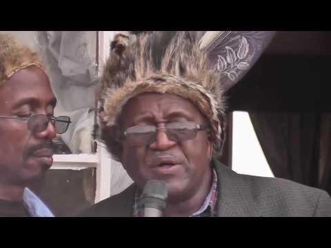 Joshua Nkomo's son Sibangilizwe Nkomo addresses the people in Tsholotsho