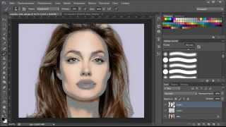 уроки photoshop cs6: Портрет из текста