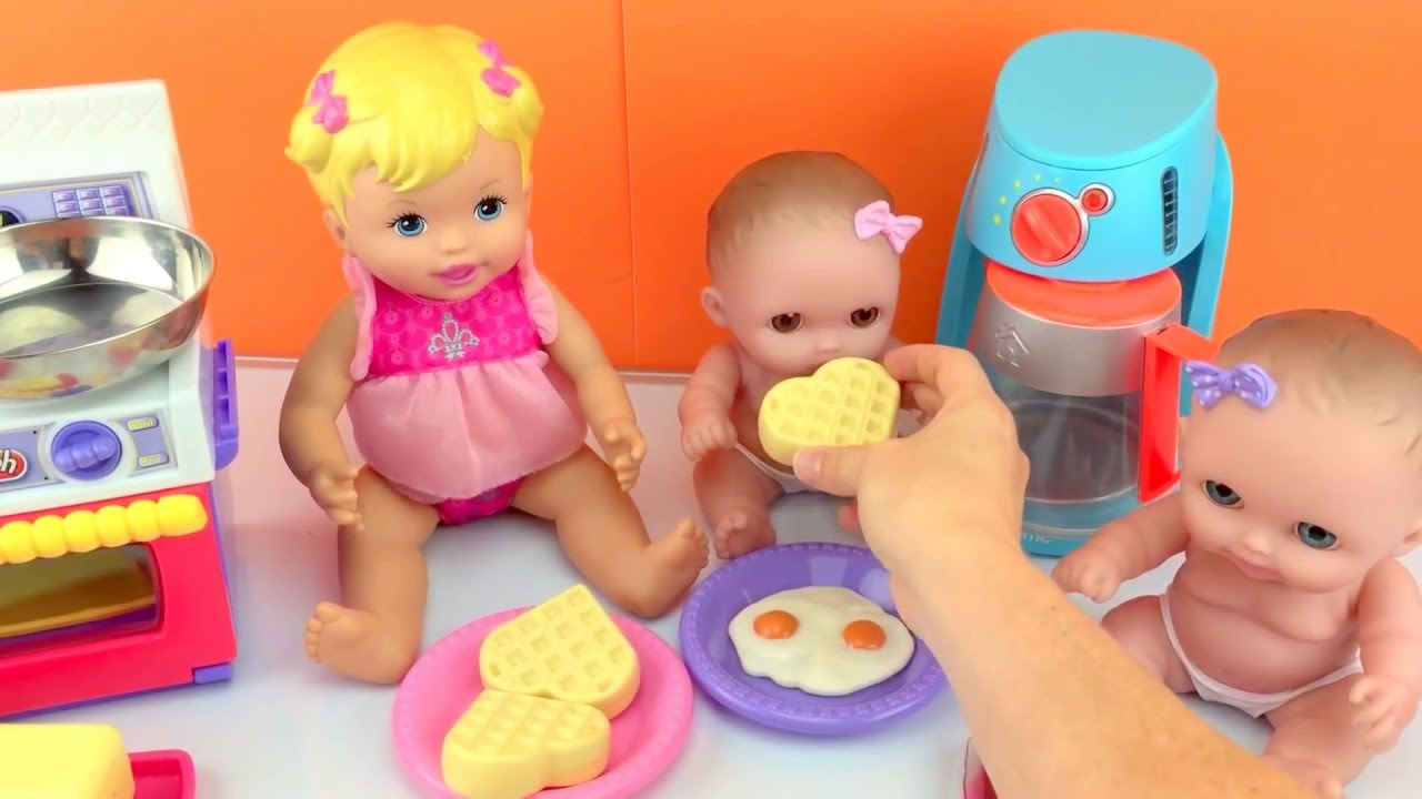 Baby Dolls Twin Babies Lil Cutesies Doll Eating Play Doh