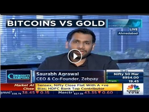 Saurabh Agrawal, CEO and Co-founder, Zebpay on Bitcoins | CNBC-TV18
