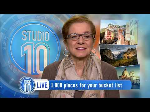 "Studio 10 speaks to Patricia Schultz: Talks her new book ""1,000 places to see before you die""."