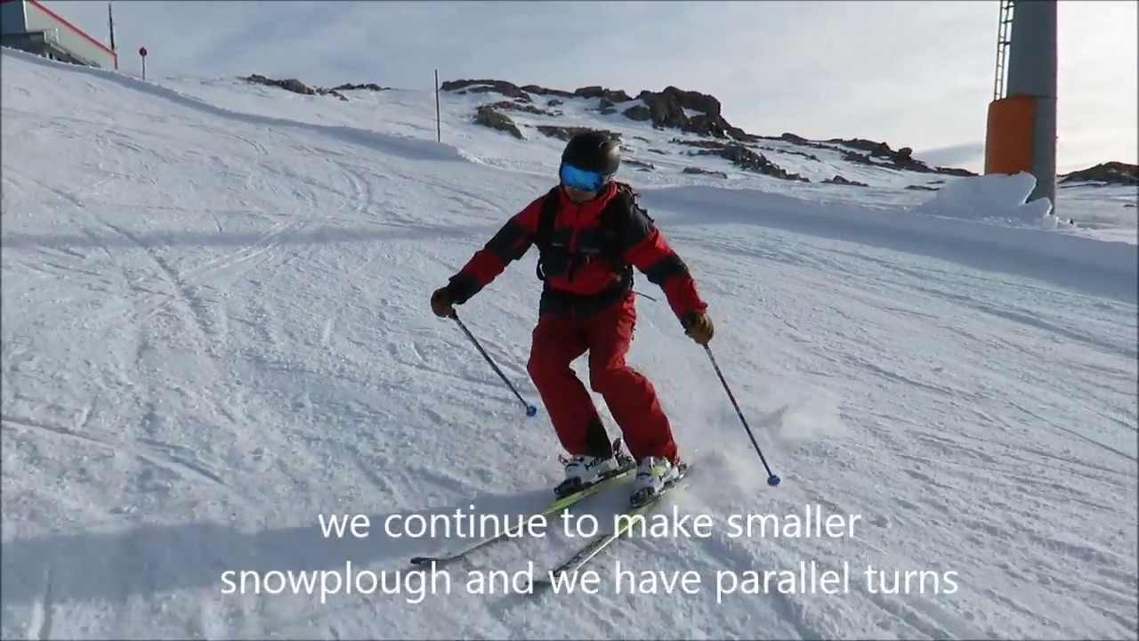 Skiing parallel turn simple exercise 2016