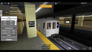 Roblox: Subway train simulator Driving R46 C Train From Park Place to Coney Island