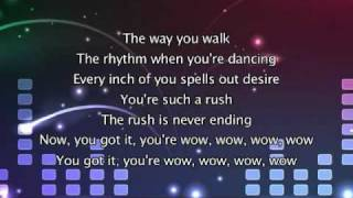 Kylie Minogue - Wow, Lyrics In Video