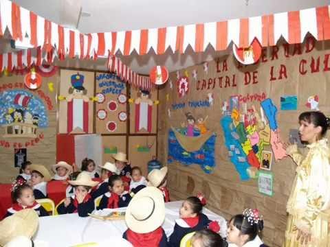 Ambientaci n por fiestas patrias 28 de julio youtube - Ver decoracion de salones ...