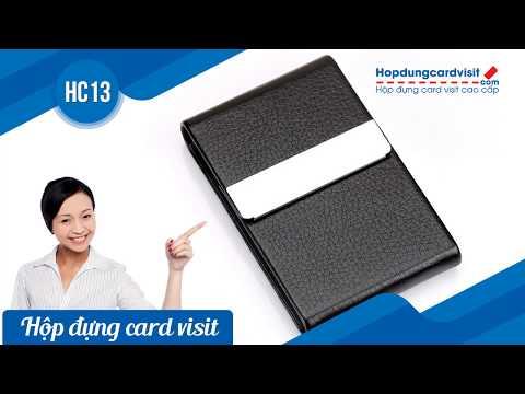Hộp đựng name card bỏ túi giá rẻ và đẹp HC13 đen