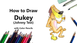 How to Draw Dukey from Johnny Test with Color Pencils [Time Lapse]
