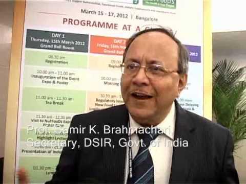 Samir K. Brahmachari ProfSamir KBrahmachari congratulates MM Activ the brainchild