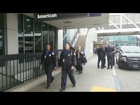 man Breaches Security tsa checkpoint at AA lax airport police LAPD FBI called to terminal 4 at lax
