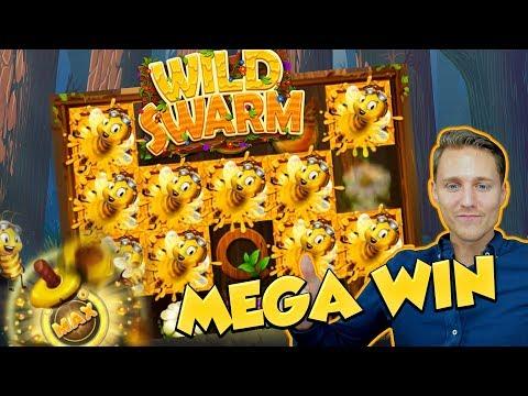 BIG WIN!!! WILD SWARM Huge win - Bonus compilation - Casino Games - free spins (Online slots)