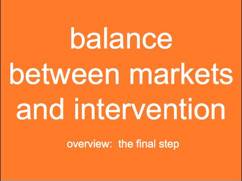 Balance Between Markets and Intervention Unit:  Introduction