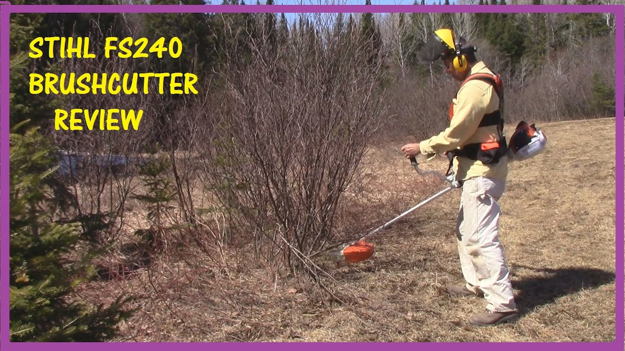 Stihl Fs240 Brush Cutter Review How To Use A Brush Cutter With 120