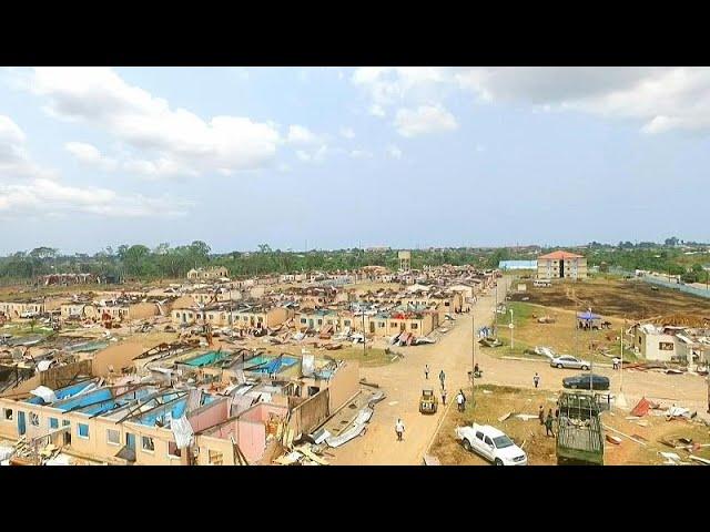 Imágenes aéreas de la brutal explosión en Guinea Ecuatorial