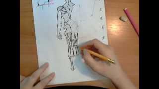 Схематическое рисование человека сзади. Анна Кошкина.