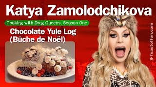 Cooking w/ Drag Queens: Katya Zamolodchikova - Chocolate Yule Log (Bûche de Noël)