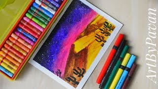 How To Draw Desert Scene