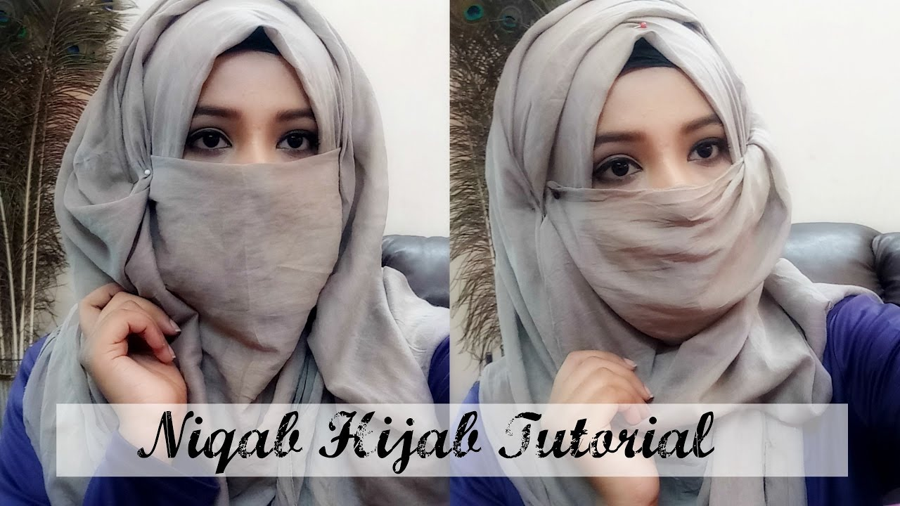Niqab Tutorial very Easy to wear (hijab Style)India/Bangladesh/Pakistan