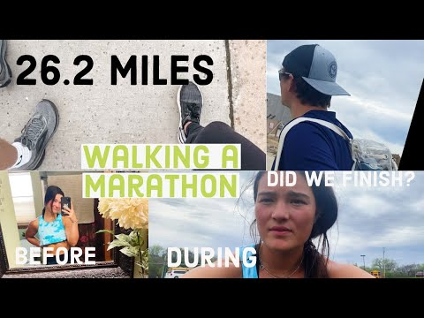 walking a MARATHON in a day challenge | chloe trca