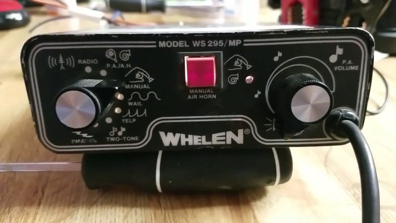 Whelen 295hf100 Wiring