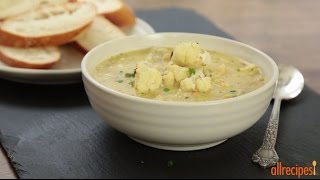 Soup Recipes - How To Make Cauliflower And Leek Soup