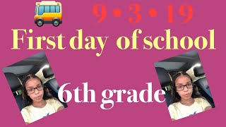 GRWM first day of school edition (6th grade)🚌
