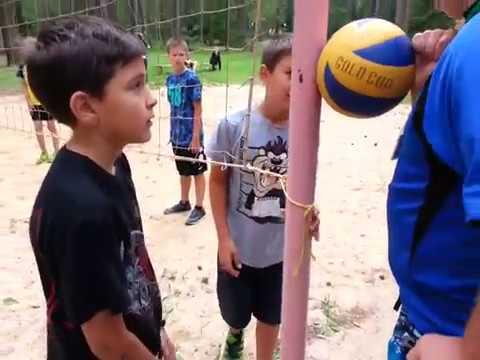 Лагерь Волна 4 смена 2017 г. 3 и 4 отряд игра Пионербол. Vk.com/unostmk