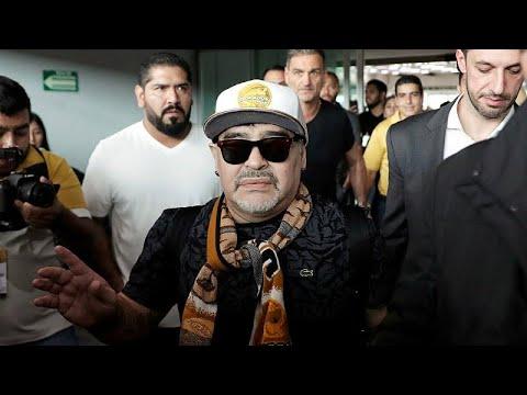 استقبال حافل لمارادونا بالمكسيك بعد وصوله لتولي قيادة دورادوس …