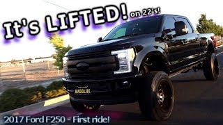 It's Lifted! FIRST RIDE! Ford F250 6