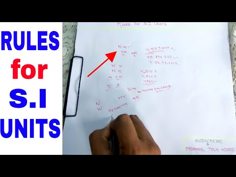 RULES FOR S.I UNITS | All 6 Rules Explained