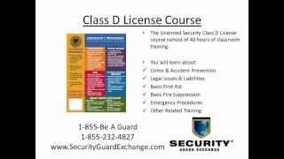 Florida Class D Security License Tampa