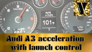 audi a3 8pa ambition sline 2 0 tdi 140ps acceleration with launch control   videotistik