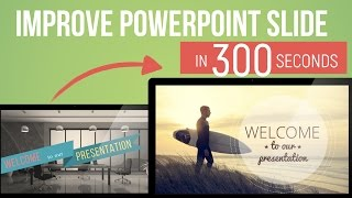 PowerPoint Slide Design in 300 seconds — Episode 5 —How to put text on photo